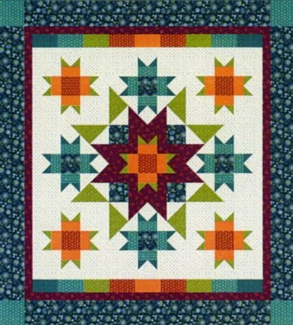 More Than Stars BOM Quilt - Short Program - Includes Backing!