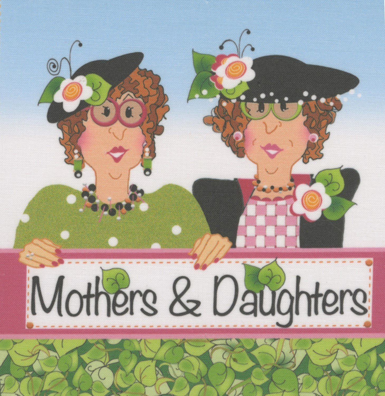 Jody Houghton - Fabric Art Panel - AP640 - Mothers & Daughters - 6in x 6in