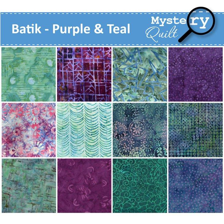 2021 MQ - Batiks - Purple & Teal Quilt