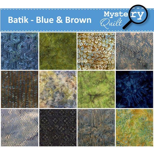 2021 MQ - Batiks - Blue & Brown Quilt - SOLD OUT!