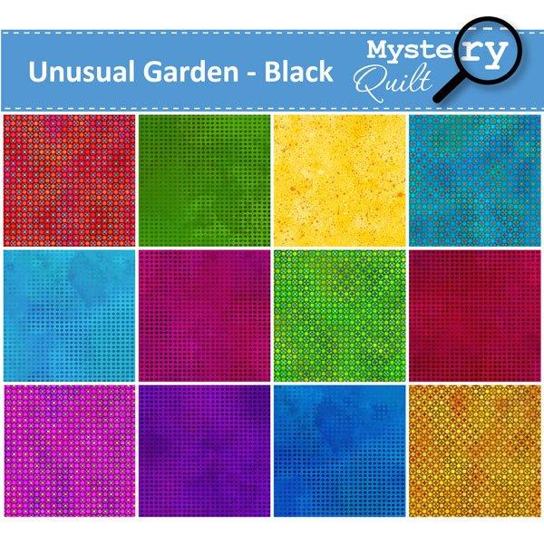 2021 MQ - Unusual Garden - Black Quilt