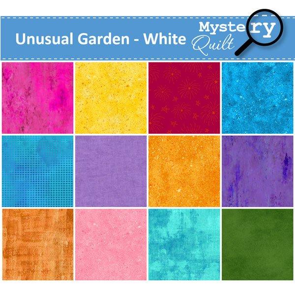 2021 MQ - Unusual Garden - White Quilt