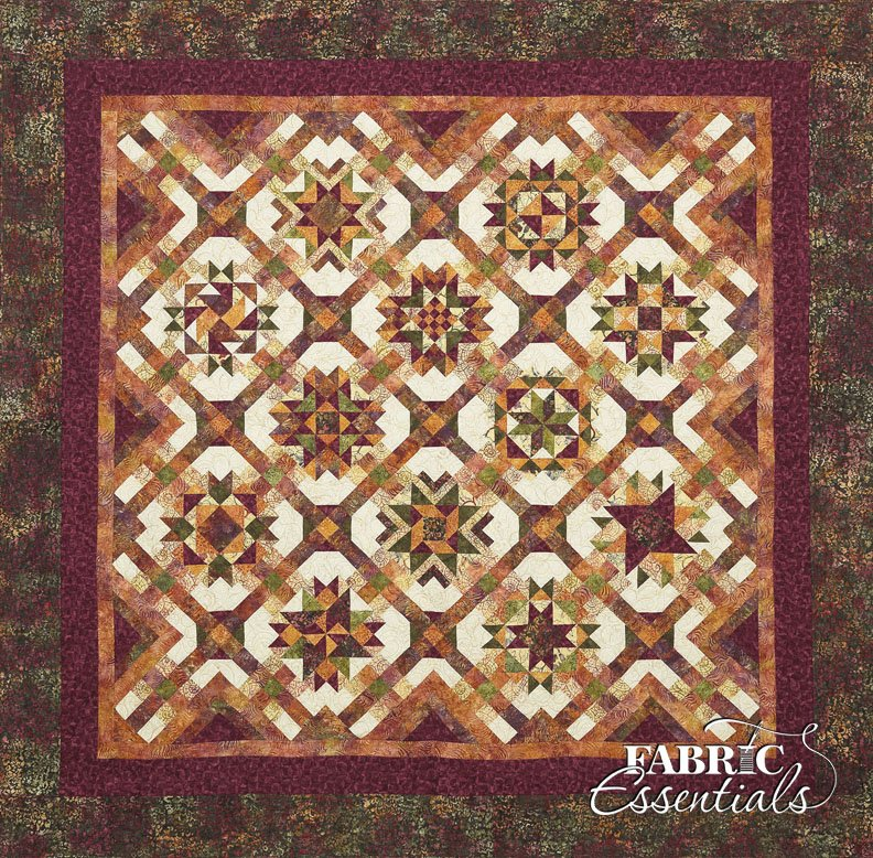 Mulberry Stars - Batik BOM Quilt - ON SALE NOW - Get Two Months FREE!