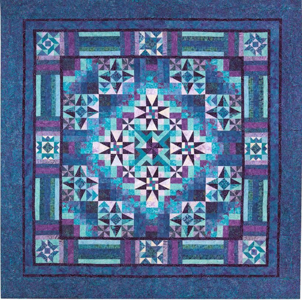Mystical Prism Batik BOM Quilt - Includes Backing!