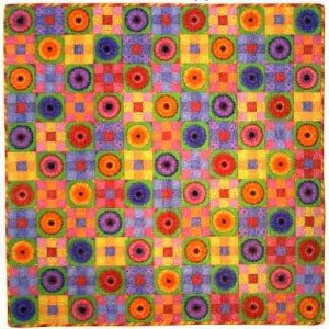Noodle's Nine Patch Quilt - Bright