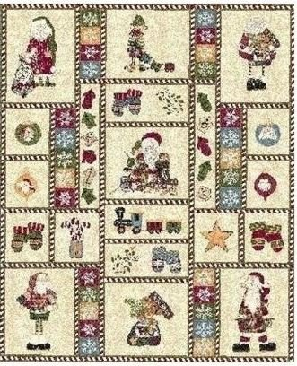 Northcott - Here Comes Santa - FLANNEL PANEL - Approx 35in x 44in - F3763