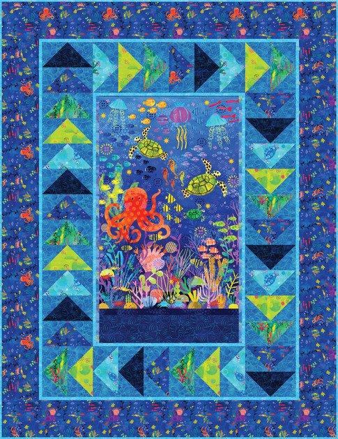 Robert Kaufman - Octopus Garden Quilt KIT!