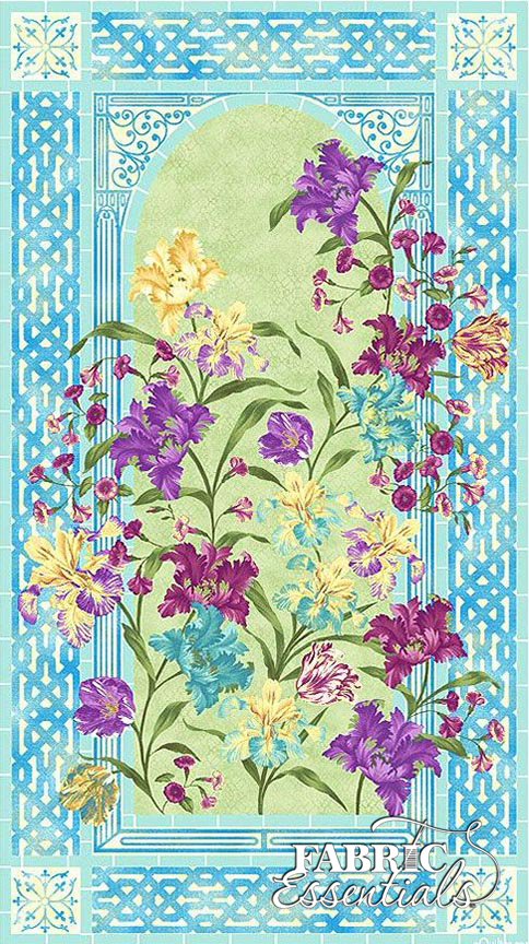 Paintbrush Studio - Garden Rendezvous - 120-11681 - PANEL - Approx 23in x 44in - Iris Abundance