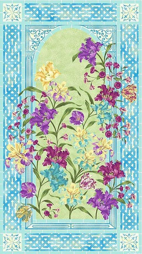 Paintbrush Studio - Garden Rendezvous - 120-11681 - PANEL - Approx 23in x 44in - Iris Abundance
