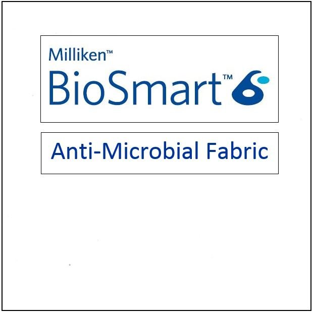 Milliken BioSmart Antimicrobial BioSmart Fabric - CL1BAC-WHI - White - 65in wide - (also called Trombone fabric) for Masks Scrubs Aprons etc.