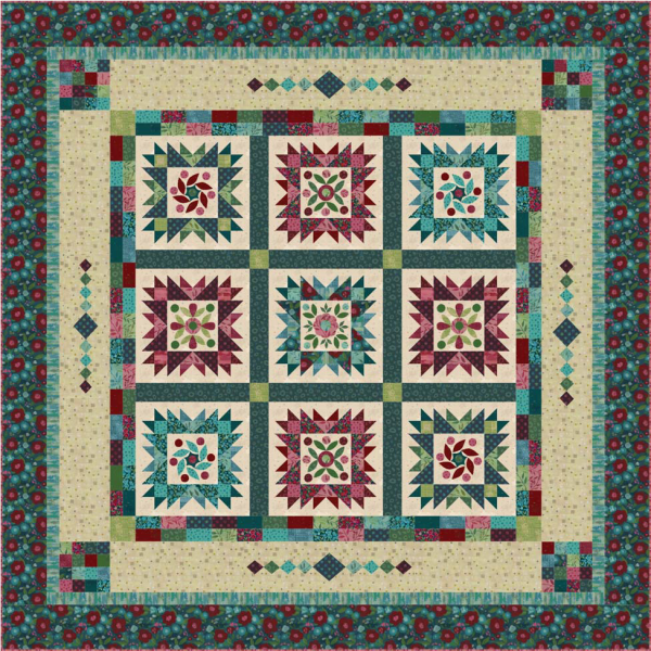Painter's Garden BOM Quilt - Applique or Pieced Blocks - 10-Month Program Includes Backing! SOLD OUT!