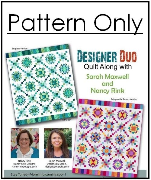 Designer Duo 2018 - Kaleidoscope Quilt Pattern Only