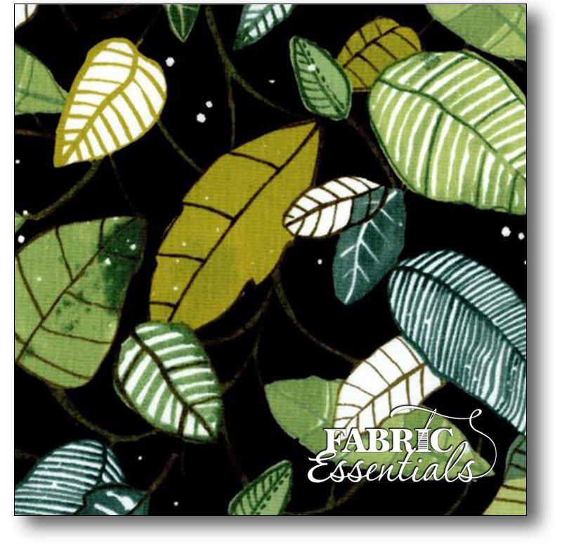 P&B - Fantasy Garden - FGAR-473-K Black - BUY THE BOLT - 1yard 3inches