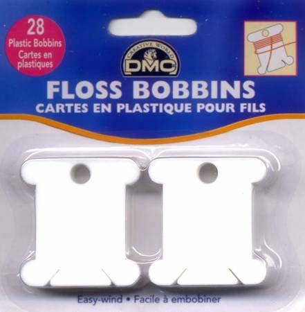 DMC Plastic Floss Bobbins - Package of 28 - 6102