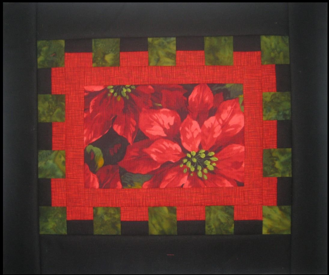 Waffle Time - Poinsettia Placemats KIT - Set of 4 - Includes Pattern Binding & Backing!