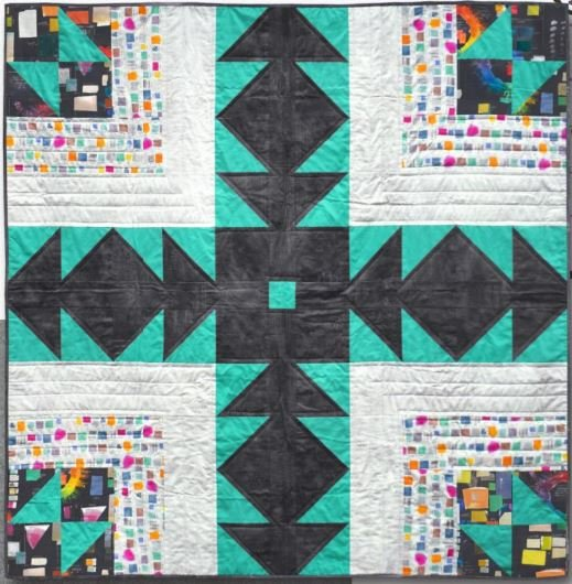 Bear Path Quilt KIT ~ Color Theory ~ Three Sizes!