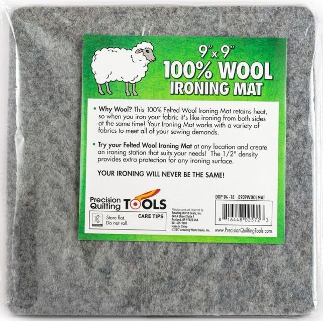 Precision Quilting Tools - 9in x 9in Wool Ironing Mat - 0909WOOLMAT