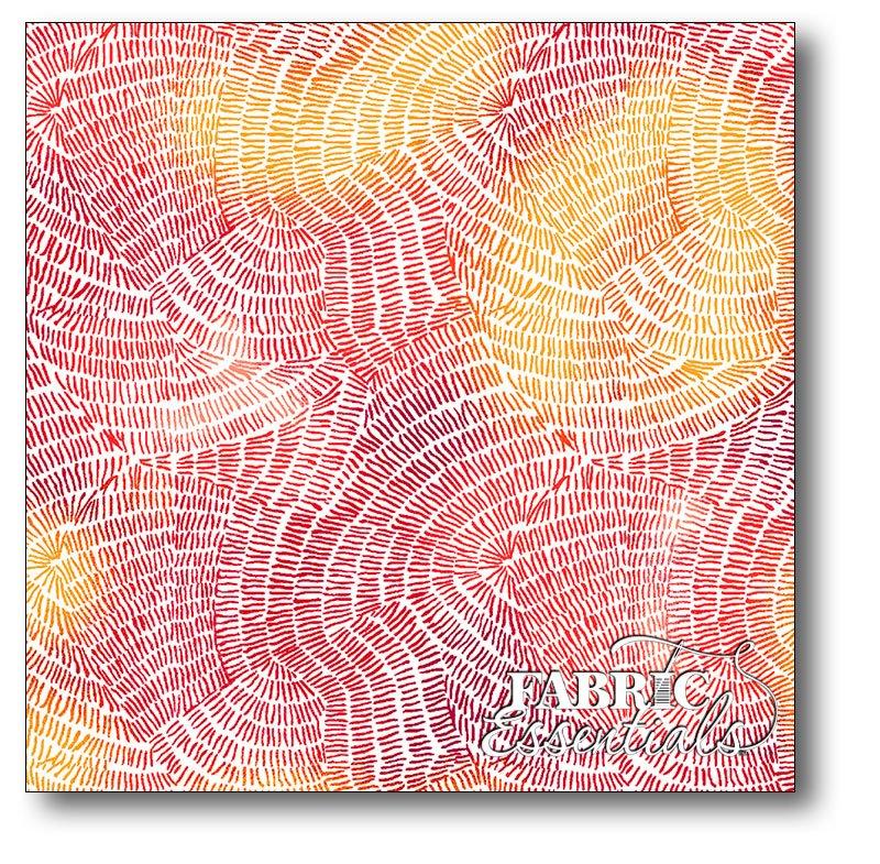 QT Fabrics - Ombre Stitches - 25974-R Chili