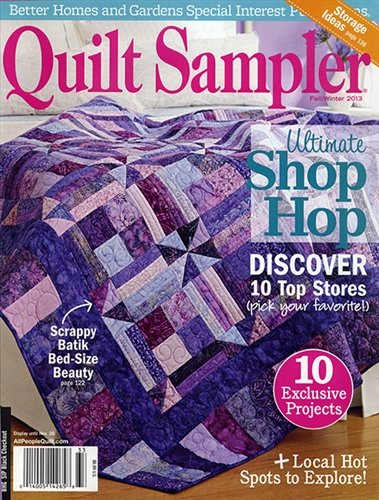 Quilt Sampler - Fall/Winter 2013 - Small tear on front cover