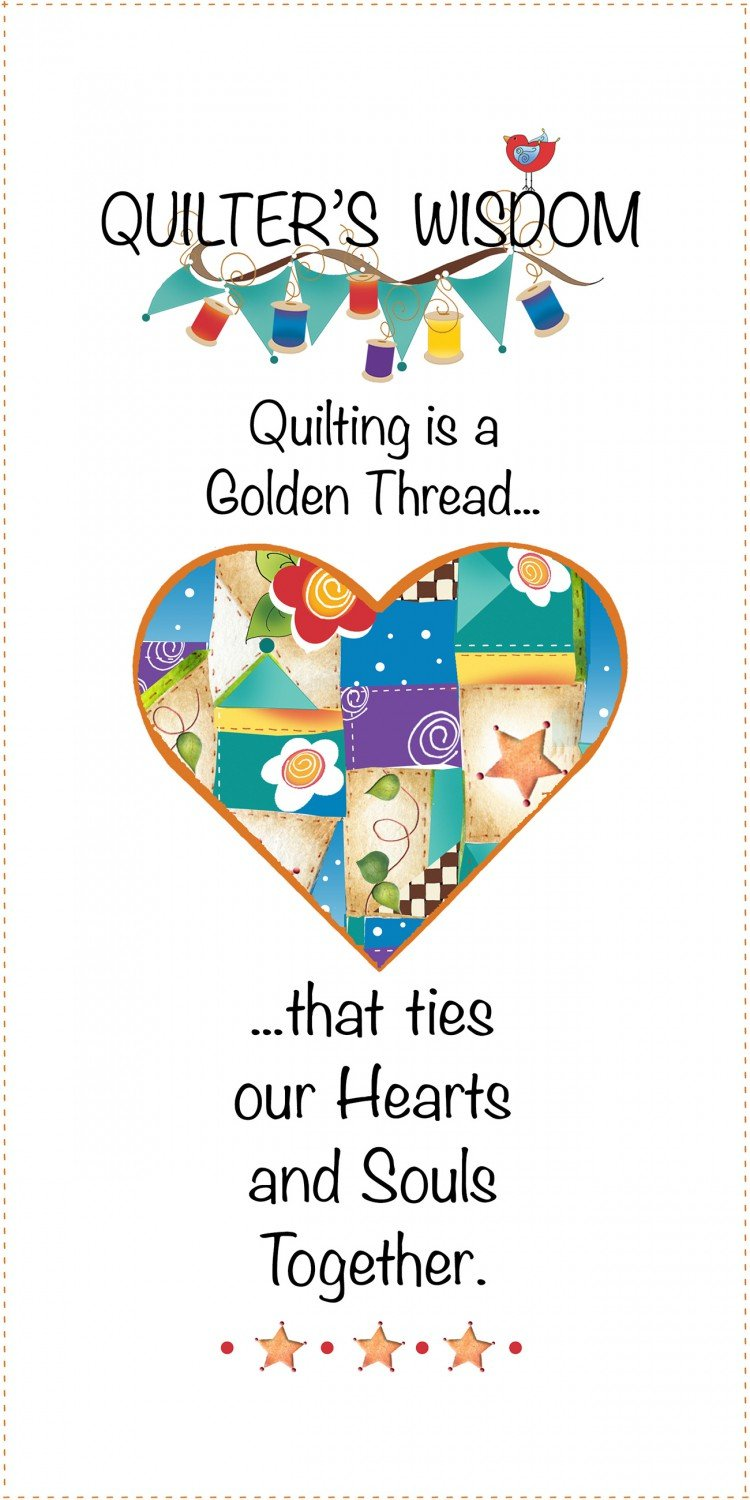 Jody Houghton - Fabric Art Panel - JHD6-12QWH - Quilter's Wisdom - 6in x 12in