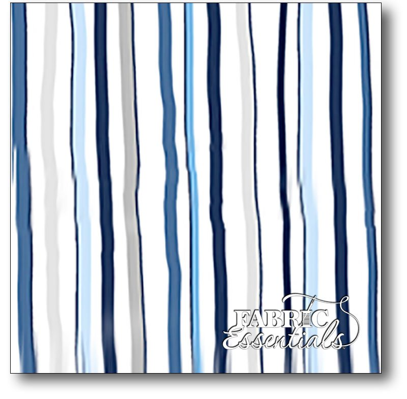 Quilting Treasures - Baby Boutique - Stripe - 23966-NB - BUY THE BOLT - 27in