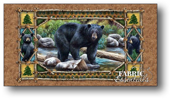 Quilting Treasures - Bear Country - PANEL - 24in x 42in - 23972-A
