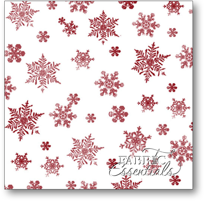 Quilting Treasures - Holiday Elegance - Snowflakes - 1649-23881-Z Red on White
