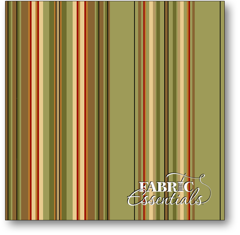 * Quilting Treasures - Lauren - 22857-H - Stripe - Lt Olive - BUY THE BOLT - FANTASTIC PRICE ON 12 YARDS!