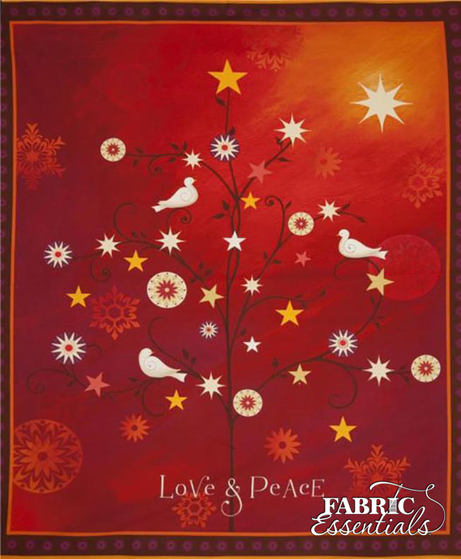 Quilting Treasures - Love & Peace PANEL - 36in x 44in - 24471-R