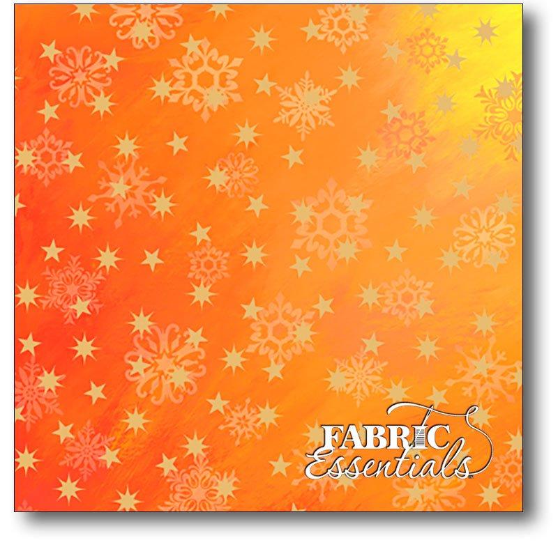 Quilting Treasures - Love & Peace - Stars - 24473-O Orange