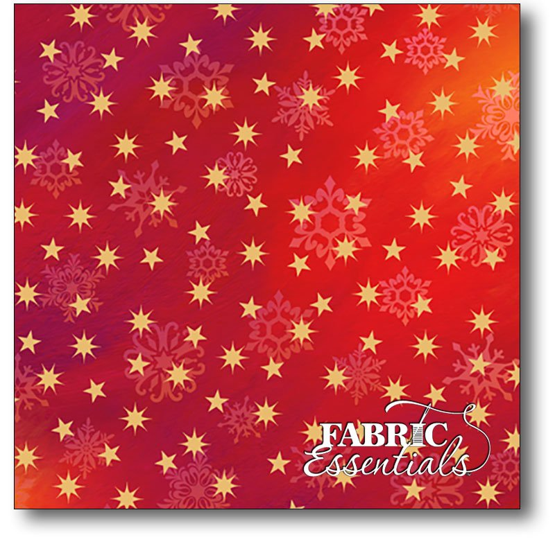 Quilting Treasures - Love & Peace - Stars - 24473-R Red