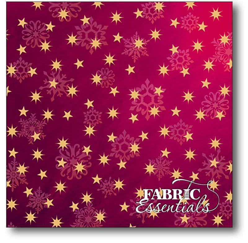 Quilting Treasures - Love & Peace - Stars - 24473-V Magenta