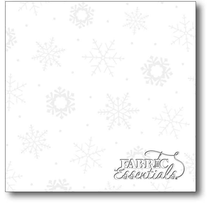 Quilting Treasures - Quilting Illusions - White Snowflakes - 24600-Z