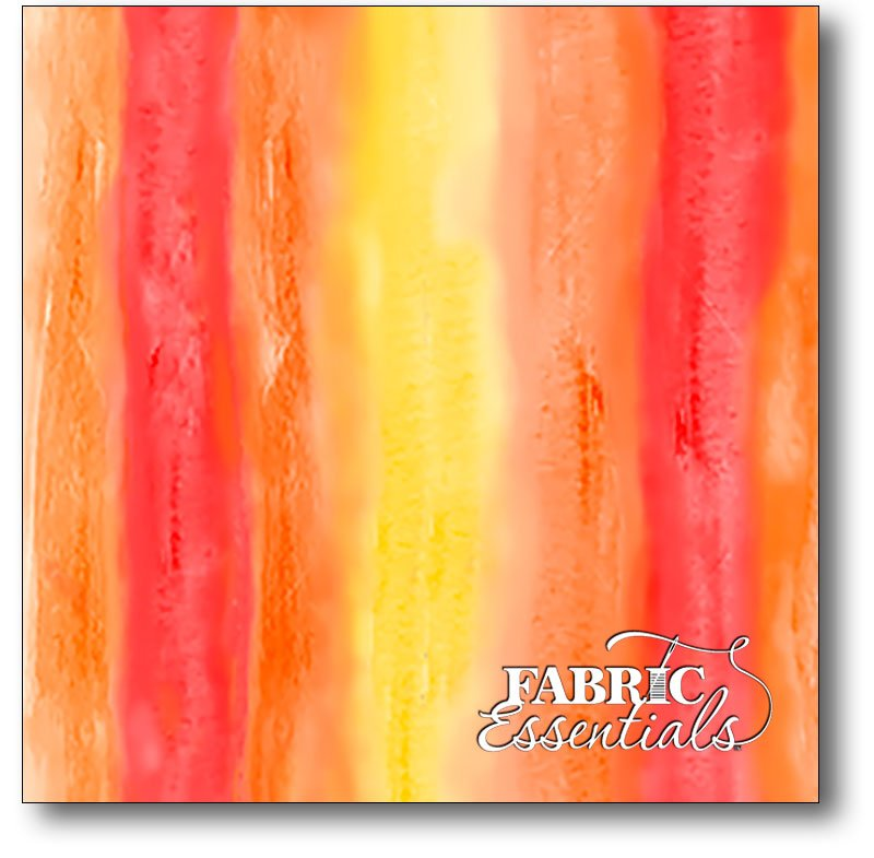 Quilting Treasures - Studio 8 - Sun-Kissed - Watercolor Stripe - 24679-O Orange