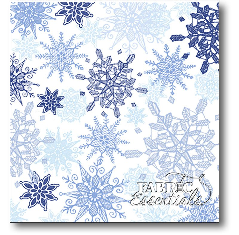 Quilting Treasures - Winter Frost Snowflakes - 24459-B Light Blue