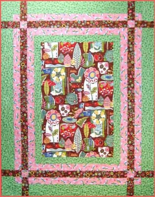 Right Angles - AW-014 - Uses 1 Yard Panel or Focal Fabric