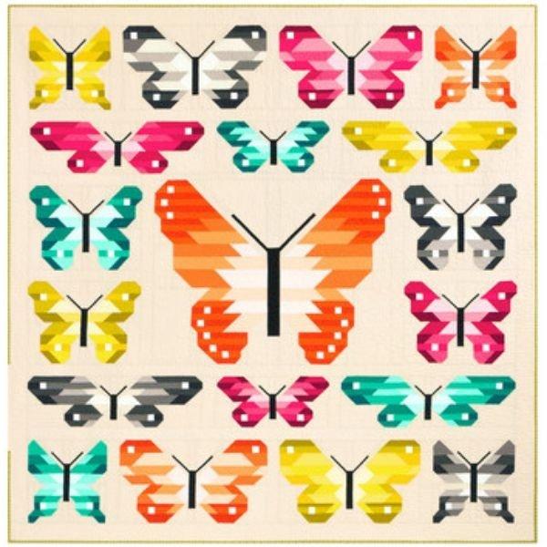 Robert Kaufman - Elizabeth Hartman - Adventure - Lepidoptera Butterfly Quilt KIT - Q0601927