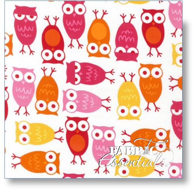 Robert Kaufman - Urban Zoologie - Owls - Pink - AAK-10348-10