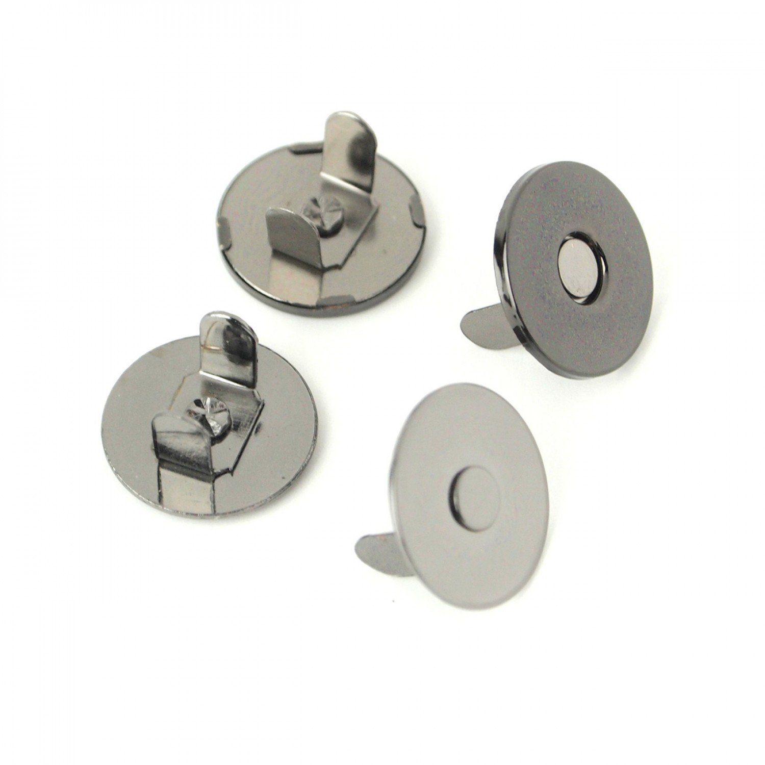 Magnetic Snaps - Set of 2 - 3/4in - STS158B - Gunmetal