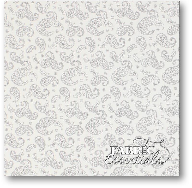 Santee Printworks - Remember When - BD-49724-A05 Gray Paisley on White