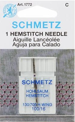 Schmetz 1772 - Hemstitch - Wing Machine Needle Size 100/16 - 1ct