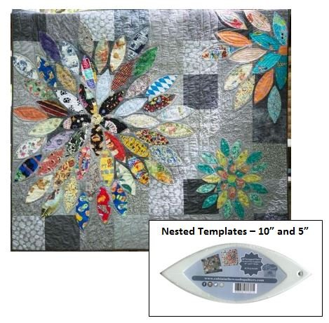 SAVE - Scrap Petal Garden PLUS Nested Petal Templates for 10in and 5in Petals