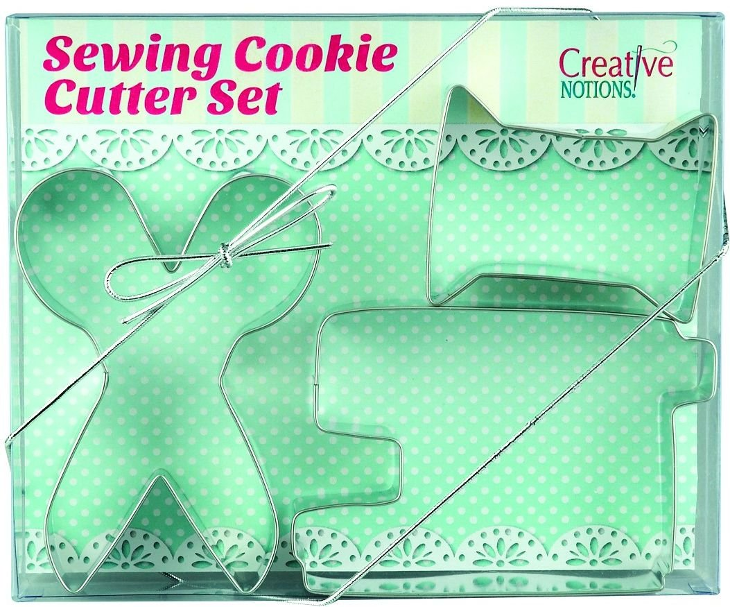 Sewing Themed Cookie Cutters - Set of 3 + Recipe! ONE LEFT!