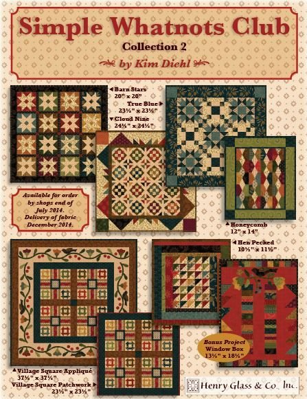 Simple Whatnots Club II - SIX Small Quilt Projects + BONUS Quilt + Backing! SALE on Complete Kits!