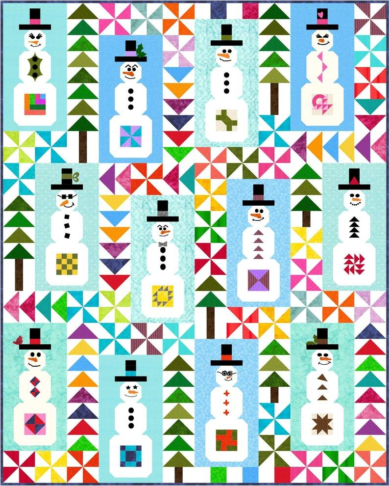 Snowman Sampler BOM - Includes Backing!