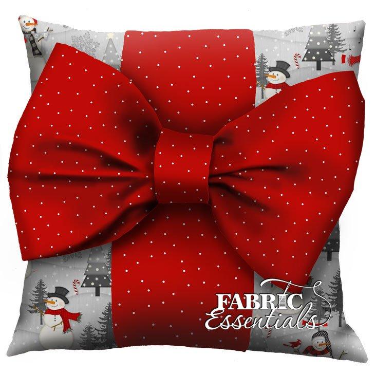 Snowmen - Big Bow Pillow Kit!