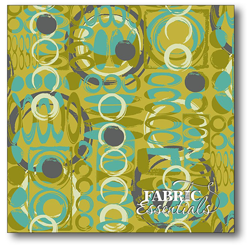 Stof Fabrics - Hoodie's Collection - Once Around - Circle Mind - 4503-377 Lime