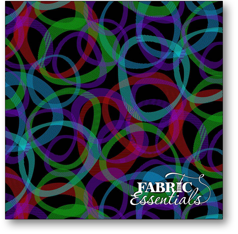 Studio e - 108in Wide Cotton Backing -  Transparencies - Large 10-11in Shapes - 4526-98