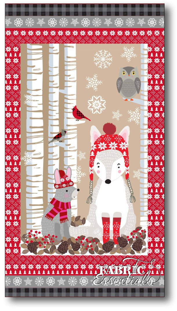 Studio e - Snow Delightful - PANEL with Winter Animals - Approx 23in x 44in - 3850P-98