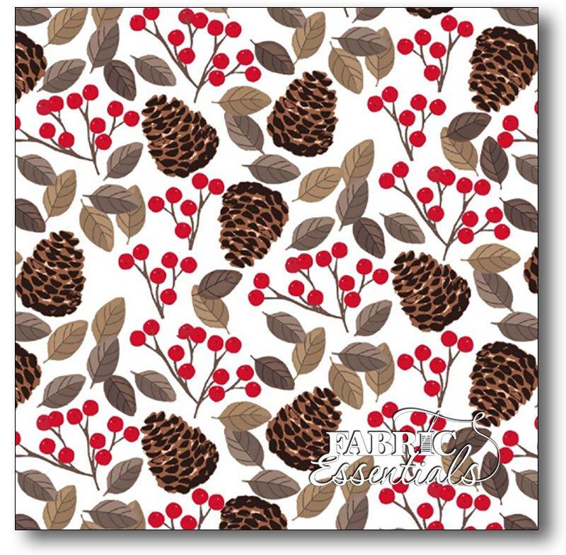 Studio e - Snow Delightful - Pinecones & Winterberries - 3852-8